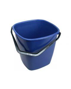 Hink fyrkantig blå 14 liter
