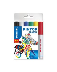 Märkpenna PILOT Pintor F 6 färger