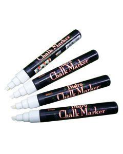 Märkpenna MARVY Chalk Marker vit 4/FP
