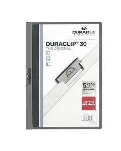Klämmapp Duraclip 2200 A4 3mm m.grå
