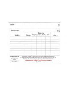 Dosett medi ordinationskort 10/FP