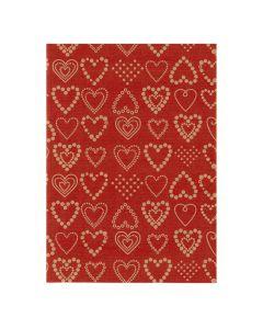 Julpapper 57cmx154m Dotted Hearts