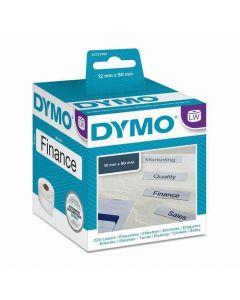 Etikett DYMO hängmapp 50x12mm 220/FP