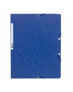 Gummibandsmapp EXACOMPTA 400g A4 blå