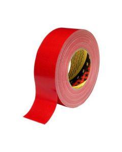 Tejp textil plastbelagd 50mx50mm röd