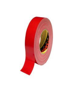 Tejp textil plastbelagd 50mx25mm röd