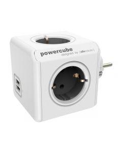 Grenuttag ALLOCACOC Powercube 4-vägs USB