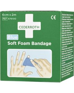 Plåster CEDERROTH Soft Foam blå 6cmx2,0m