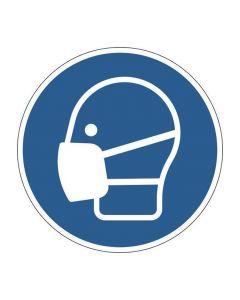 Påbudsdekal 'Använd munskydd'