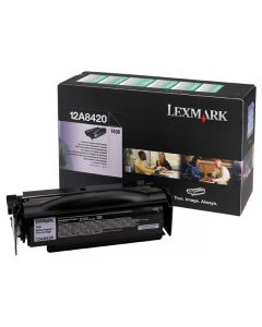 Toner LEXMARK 12A8420 svart