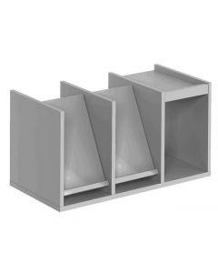 Broschyrinsats monterad 762x377x385 grå