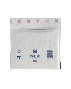 Bubbelpåse CD 180x160mm vit 10/FP