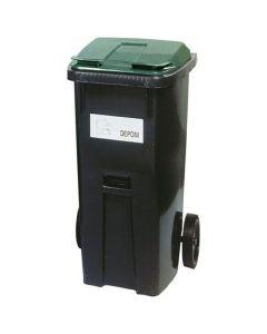 Återvinningsbehållare grönt lock 190 liter