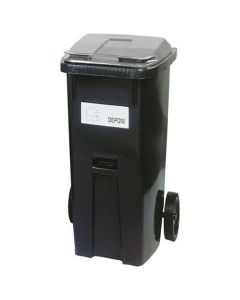 Återvinningsbehållare grått lock 190 liter