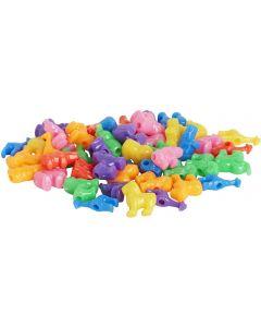 Plastpärla djur med stora hål 250/FP