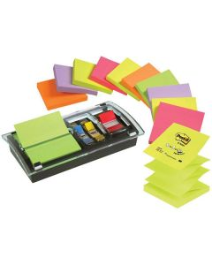 Notes POST-IT Z-block+hållare Plexi12/FP