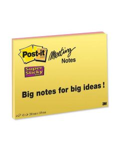 Notes POST-IT SS Meeting Note 200x149mm