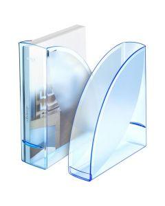 Tidskriftssamlare ICE blå transparent