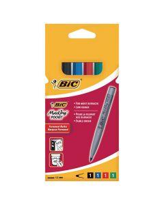 Märkpenna BIC 1445 pocket 4 färger