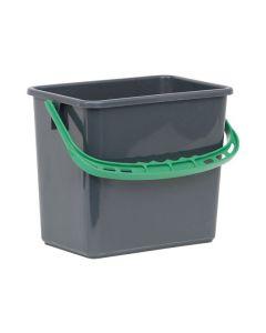 Hink Grå, grönt handtag 6 liter