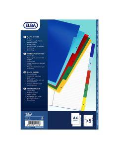 Plastregister ELBA A4 1-5