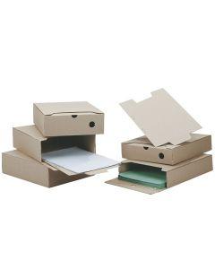 Arkivbox A4 60mm ryggbredd brun