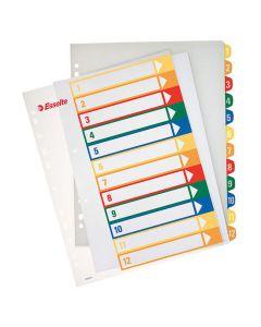 Plastregister Projektindex A4+ 1-12