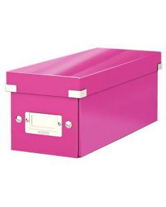 Förvaringslåda CD Click & Store WOW rosa