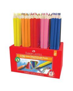 Färgpenna FABER Triangular 12x10 färger