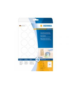 Etikett HERMA Transp stark Ø40mm 600/FP