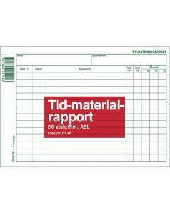 Blankett tid- och materialrapport A5L