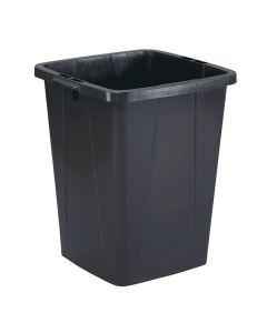 Papperstunna 90 liter DURABIN fyrkantig svart