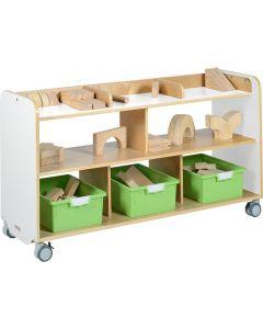 Förvaringshurts GROCARE vit leksaksförvaring
