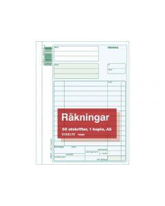 Blankett räkning med kopia A5 50 blad