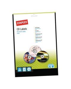 Etikett STAPLES CD/DVD vit 50/FP