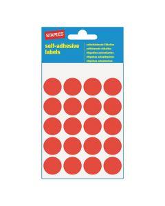 Etikett STAPLES 19mm röd 100)