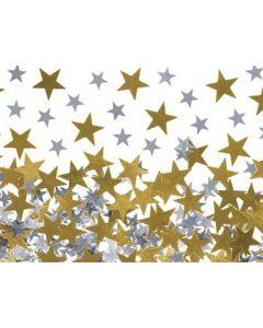 Stickers paljettmix stjärnor 100g