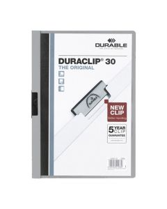 Klämmapp Duraclip 2200 A4 3mm grå 25/FP