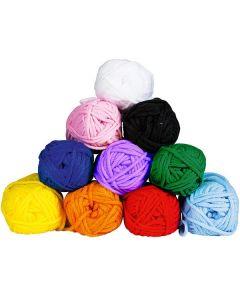 Virkgarn 10 färger