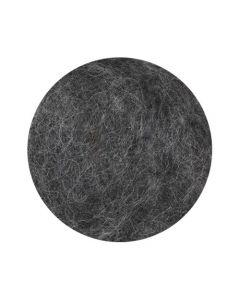 Kardad ofärgad ull 1kg mörkgrå