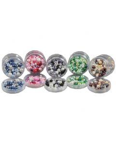 Glaspärlor 5 färger x100g