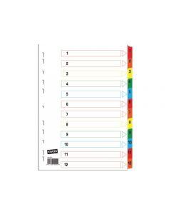 Register STAPLES kartong A4 170g 1-12