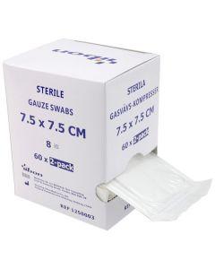 Kompress GV steril 2-p 7,5x7,5cm 120/FP