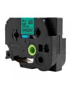 Tape 24mm TZe-751 Svart på Grön