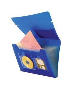 Portofolio blå 12 fack