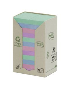 Notes POST-IT 100% recycl 38x51mm Rainbow 24/FP