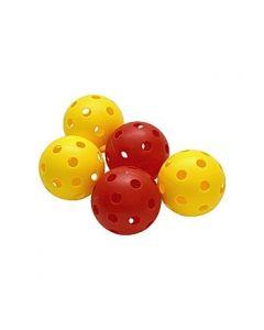 Innebandyboll gul / röd