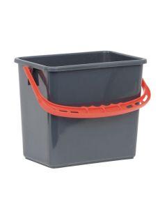 Hink Grå, rött handtag 6 liter
