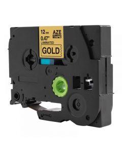 Tape 12mm TZe-831 Svart på Guld