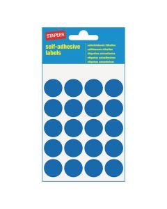 Etikett STAPLES 19mm blå 100/FP